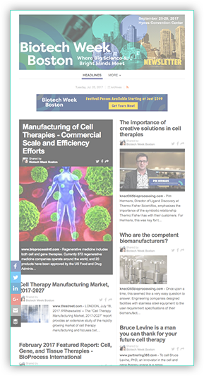 Biotech Week Boston Newsletter