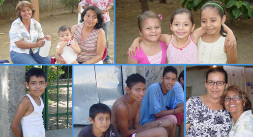 Christian families in Nicaragua.