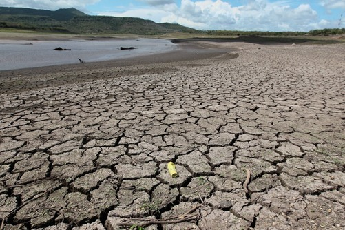 Lakes are drying up in Nicaragua due to the worst drought in decades.