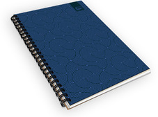 Navy Ocean Ruled Notebook