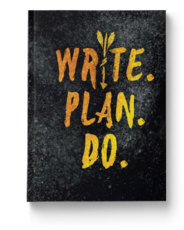 Write. Plan. Do. Notebook Cover Image