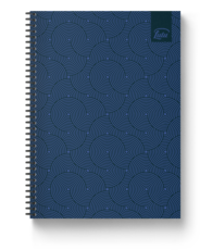 Navy Ocean Notebook Cover Image