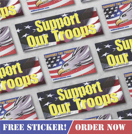 FREE Support Our Troops Sticker or Window Cling