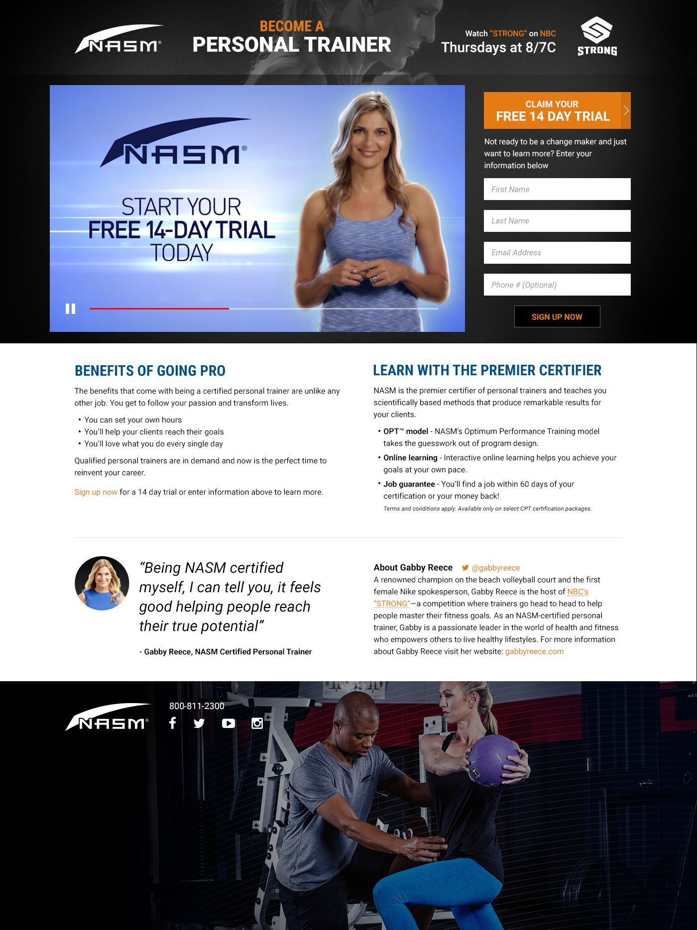 Become a personal trainer watch nasm on nbcs strong become a xflitez Images