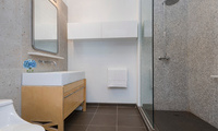 oversided bathrooms at the arris lofts, 27-28 thomson avenue LIC