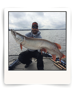 Cal Ritchie guides fishing client to giant Eagle Lake Muskie