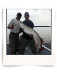 Cal Ritchie Guides Huge Muskie on Eagle Lake in Ontario