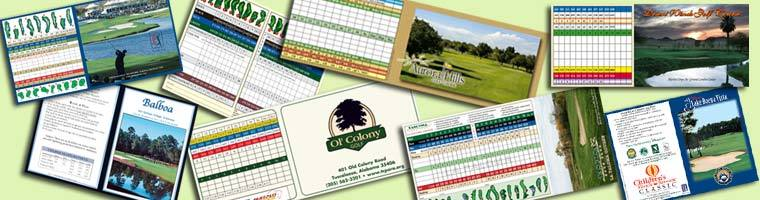 golf course scorecards