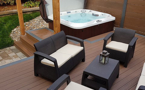 installation tub tubs hot outdoor large garden jacuzzi prices