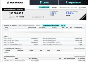 application de simulateur de trading doptions
