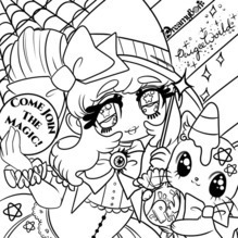 Halloween Coloring Page by Dreamybon