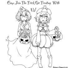 PaigeeWorld Halloween Coloring page by potatocchi