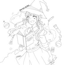 PaigeeWorld Halloween Coloring page by lcstmyway