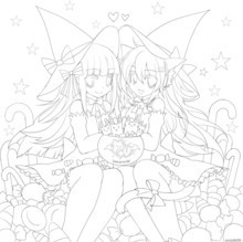 PaigeeWorld Halloween Coloring Page by Emperpep