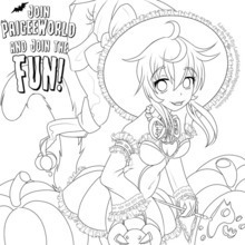 PaigeeWorld Halloween Coloring Page by Lectormedia