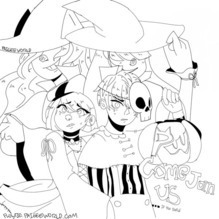 PaigeeWorld Halloween Coloring Page by Flowtie