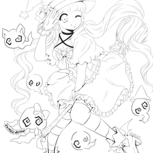 Halloween Coloring Page by @arikukko