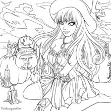 PaigeeWorld Halloween Coloring Page by Ranefea