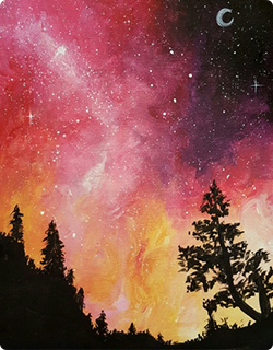 Paint Nite Galaxy in the Pines II painting