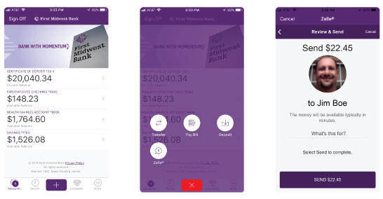First Midwest Bank | Zelle