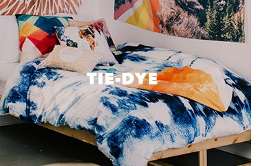 shop the tie-dye inspired room