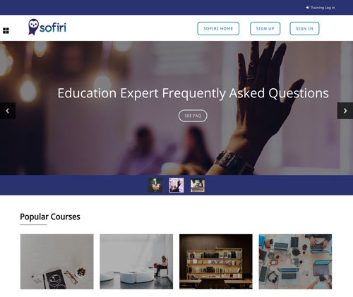 Sofiri Training Website