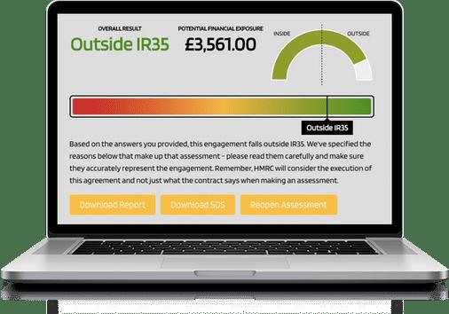 Laptop displaying the Kingsbridge Status Tool