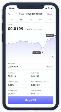 Cryptocurrency Trading With Voyager