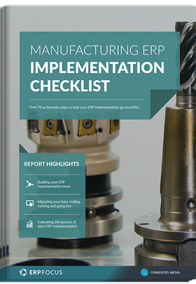 Manufacturing ERP implementation guide - over 70 actionable