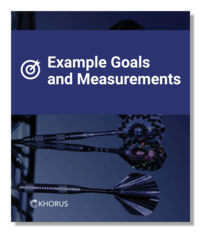 Example Goals and Measurements