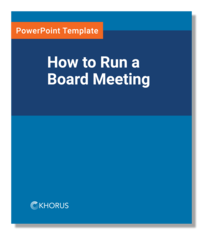 How to Run a Board Meeting