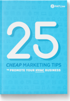 ebook Cover: 25 Cheap Marketing Tips for Your HVAC Business