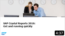 SAP Crystal Reports turns almost any data source into interactive, actionable information that can be accessed offline or online, from applications, portals, and mobile devices. This video demonstrates how to get the product installed quickly and seamlessly.