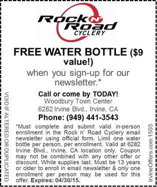 Irvine Offers Rock N Road Cyclery Coupons Irvine