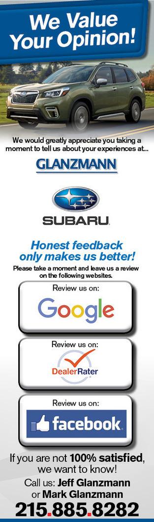 Review Glanzmann Subaru